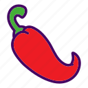 chili, chili pepper, food, pepper, vegetable icon