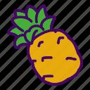 food, fruit, pineapple