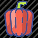 pepper, bell, vegetable, organic, food, vegetarian icon