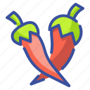 chili, food, hot, organic, vegetable icon