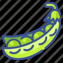 food, fruit, organic, pea, vegetable icon