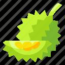 durian, food, fruit, organic, vegetarian icon