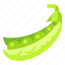 food, fruit, organic, pea, vegetable icon
