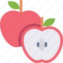 apple, food, fruit, healthy, organic, red