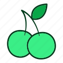 acerola, diet, eating, food, fruits, healthy, organic icon