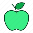 apple, diet, eating, food, fruits, healthy, organic icon