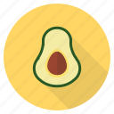 avacado, avocado, fat, food, fresh, fruit, healthy icon