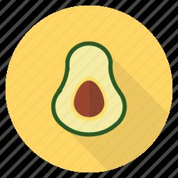 avacado, avocado, fat, food, fresh, fruit, healthy icon