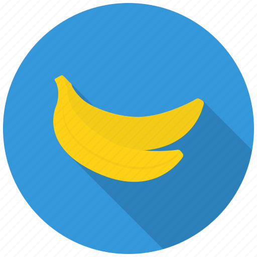 banana, eat, food, fresh, fruit, healthy, vitmains icon