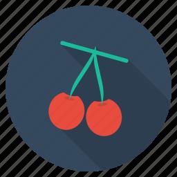 cherries, food, fresh, fruit, healthy, plant, vegetable icon
