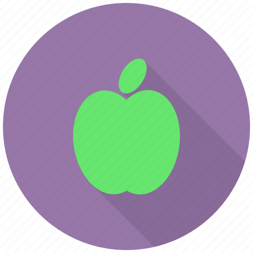 apple, carbs, food, fresh, fruit, green, healthy icon