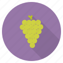 eat, food, fruit, grapes, green, healthy, wine icon