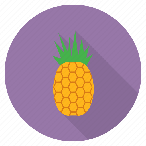 eat, food, fresh, fruit, healthy, pineapple, tropical icon