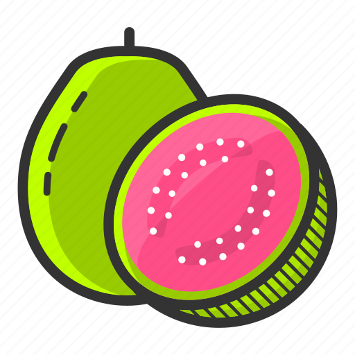 dessert, food, fruit, guava, juicy, sweet, tropical fruit icon