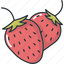 food, fruit, fruits, healthy, strawberries, vegetable icon