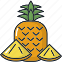 food, fresh, fruit, fruits, healthy, kitchen, pineapple icon