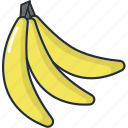 banana, bananas, food, fruit, fruits, healthy, kitchen icon