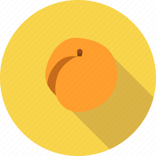 apricot, food, fruit, organic icon