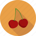 cherry, food, fruit, prunus icon
