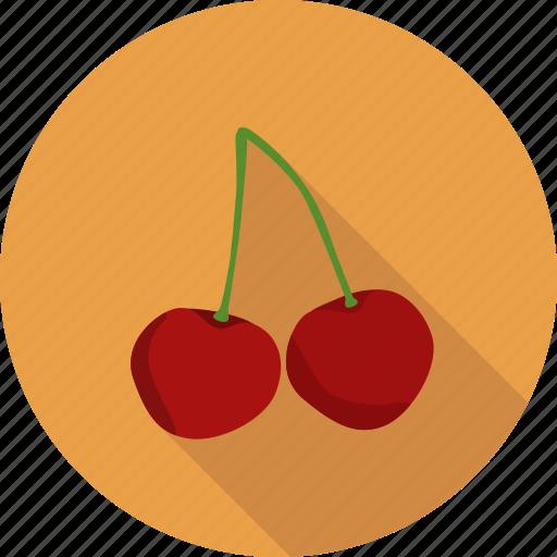 cherry, food, fruit, prunus icon