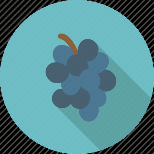 blue, dark, food, fruit, grape, grapes, organic, wine icon