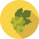 food, fruit, grape, grapes, leaf, organic, white icon