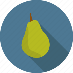 food, fruit, green, pear icon