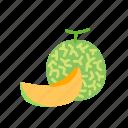 food, fruit, melon, organic, rockmelon, slice