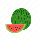 food, fruit, melon, organic, slice, watermelon icon