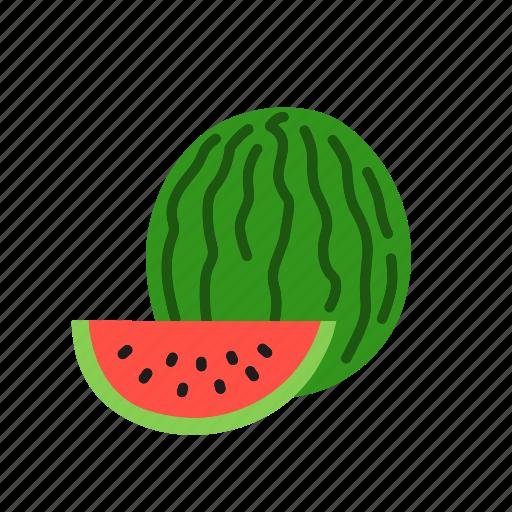 food, fruit, melon, organic, slice, watermelon icon