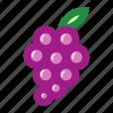 fruits, grape, grapefruit, sweet, violet icon