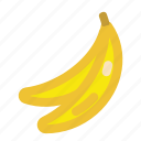 banana, bananafruit, fruits, icon, yellow icon