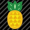 fruits, pineapple, pineapplefruit, sweet, yellow
