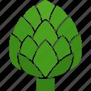 artichoke, cynara, food, globe, heart, thistle, vegetable icon