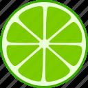 citrus, fruit, lime, slice, split, whole icon