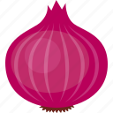 allium, bulb, common, onion, purple, red, vegetable icon