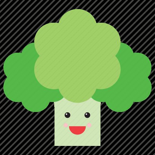 celery, cute, emoji, emoticon, face, food, vegetable icon