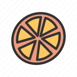 citrus, fresh, fruit, green, orange, oranges, organic icon