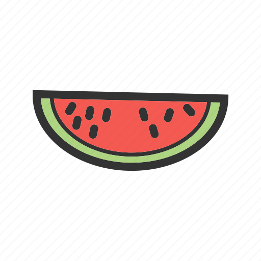 diet, food, healthy, red, slice, sweet, watermelon icon
