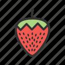 food, fresh, fruit, red, strawberries, sweet, tasty icon