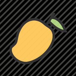 food, fruit, green, juicy, mango, slice, sweet icon