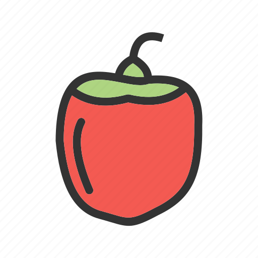 food, green, healthy, pepper, peppers, red, vegetable icon
