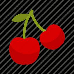 cherries, cherry, food, fresh, fruit, green, sweet icon