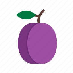 food, fresh, fruit, plum, plums, purple icon