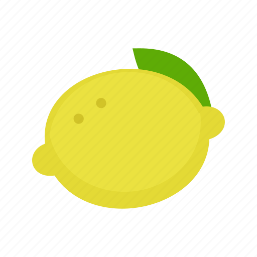 food, fresh, fruit, healthy, lemons, vitamin, yellow icon