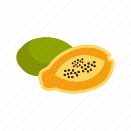 dessert, food, fresh, fruit, papaya, ripe, tropical icon