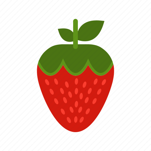 food, fresh, fruit, red, strawberries, sweet, tasty icon