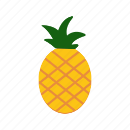 food, fruit, healthy, pineapple, slice, sweet, yellow icon