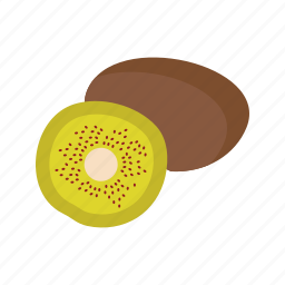 diet, food, fruit, green, kiwi, slice, tropical icon