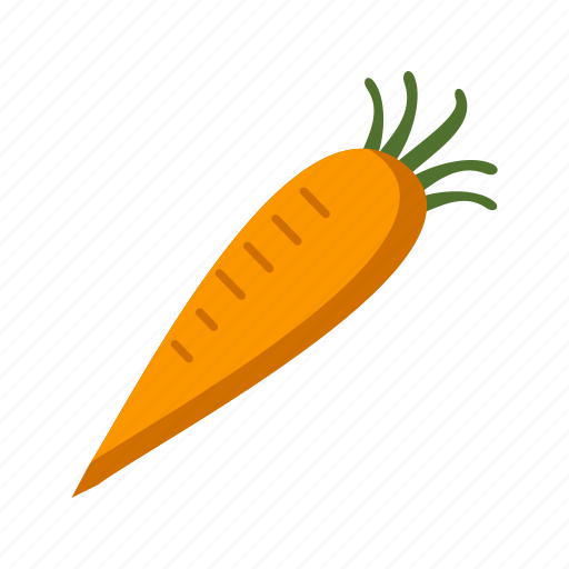carrot, food, fresh, green, healthy, natural, vegetable icon
